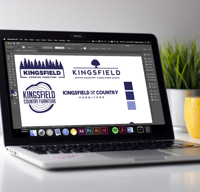 Kingsfield Country Furniture Branding Exercise