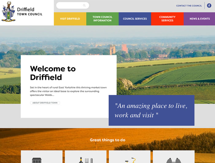Driffield Town Council Website
