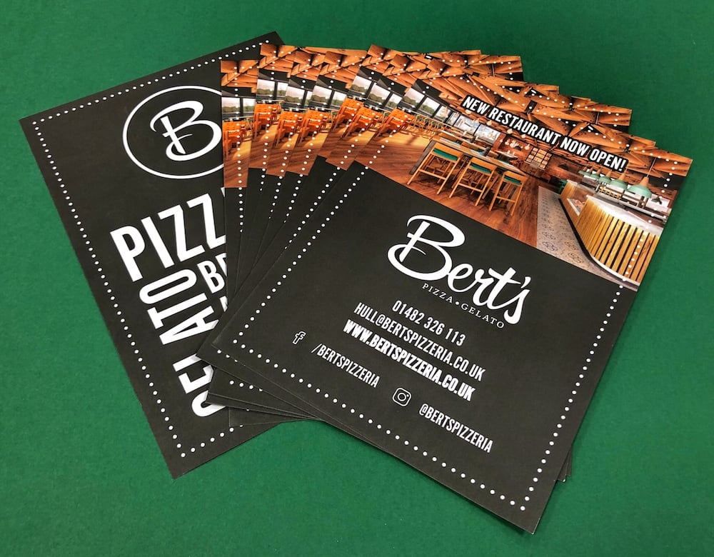 Berts Pizzeria Hull flyers